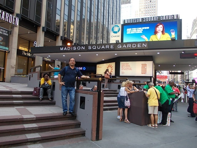 "En el ""Madison Square Garden"", de Nueva York"