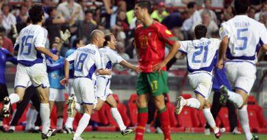 Grecia sorprendió en la final a Portugal y ganó la Eurocopa de 2004