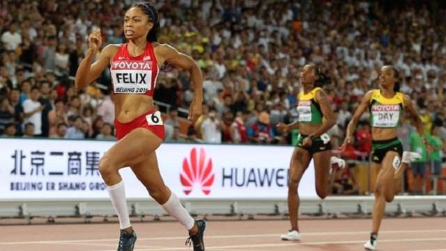 Allyson Felix podría convertirse en la deportista con más medallas en el atletismo olímpico. Foto: IAAF.