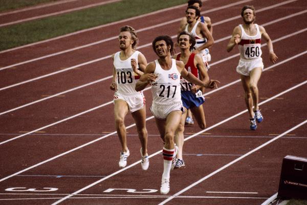Alberto Juantorena en los Juegos de Montreal en 1976