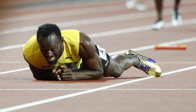 Bolt no pudo terminar su última carrera