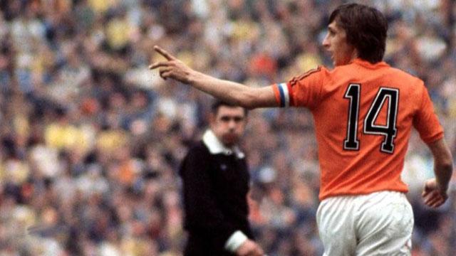 El holandés Cruyff no pudo ganar un Mundial. Jugó la final de 1974 donde su equipo perdió ante Alemania Federal