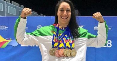 La nadadora Liliana Ibáñez, una de las principales figuras de Méxivo con nueve medallas en Barranquilla-2018, cinco de ellas de oro.