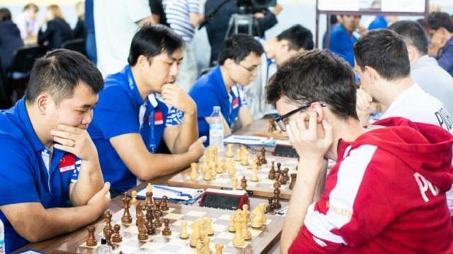 China superó a Polonia y podría ganar la Olimpiada si vence a EE.UU. Foto: Maria Emelianova/Chess.com.