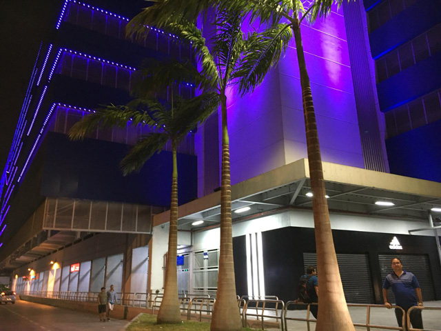 En el Estadio George Capwell, sede del Emelec, en Guayaquil