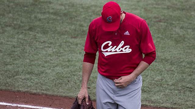 Lázaro Blanco, el rostro de la decepción del béisbol cubano en los Panamericanos de Lima 2019. Foto tomada de Cubadebate