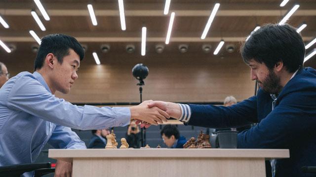 Liren vs. Radjabov dirimirán el título de la Copa Mundial de ajedrez en las partidas rápidas. Foto tomada del sitio oficial del evento