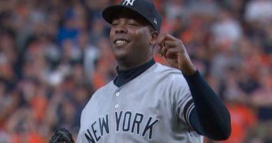 El cerrador cubano Aroldis Chapman logró una extensión de contrato con los Yankees de Nueva York: tres años por 48 millones de dólares