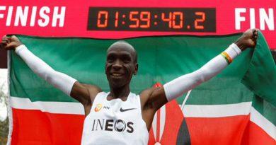 El keniano Eliud Kipchoge no debió ser premiado como el mejor atleta de 2019