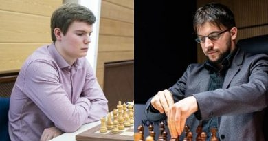 Kirill Alekseenko y Maxime Vachier-Lagrave. Foto: Maria Emelianova/Chess.com.