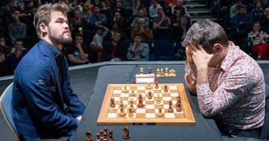 Carlsen venció a Aronian en la discusión del tercer lugar de la final del Grand Chess Tour. Foto: Lennar Ootes