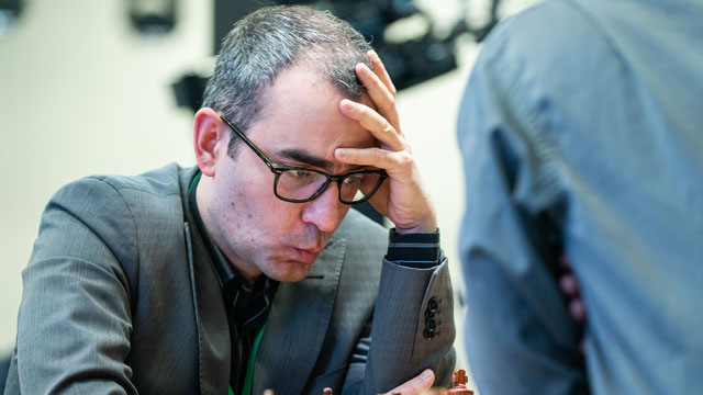 El GM Leinier Domínguez finalizó en la sexta posición del Mundial de ajedrez rápido. Foto tomada del sitio oficial del Mundial