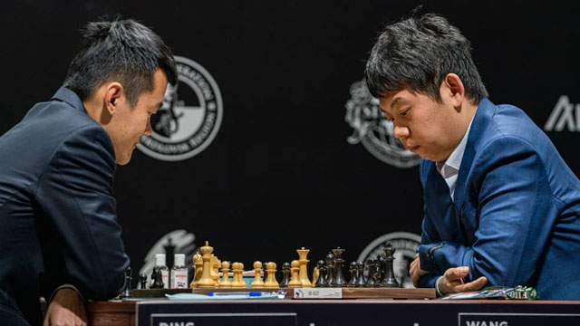 El GM chino Wang Hao derrotó a su coterráneo Ding Liren en la primera ronda del Torneo de Candidatos 2020. Foto: Tomada de Chess.com