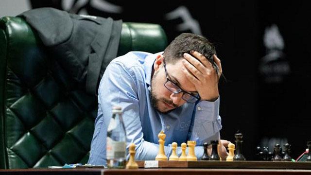 Vachier-Lagrave dejó escapar una gran oportunidad de asumir el liderato del Torneo de Candidatos. Foto tomada de Chess.com