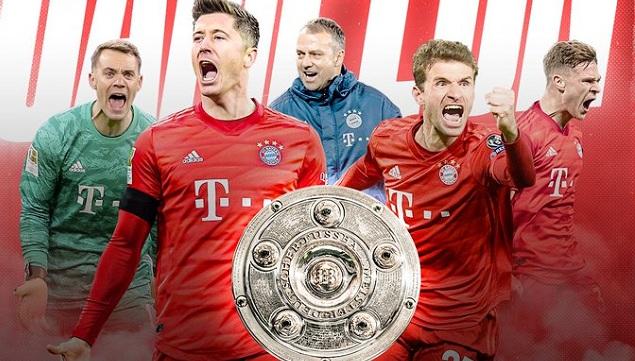 Bayern Múnich se proclamó, por octava ocasión de manera consecutiva, campeón de la Bundesliga.
