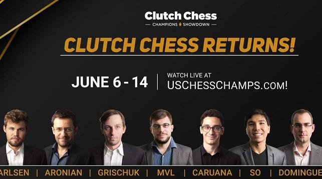 El torneo Clutch Chess Champions Showdown volverá a jugarse en la plataforma Lichess y contará esta vez con la participación de ocho ajedrecistas de la súper elite