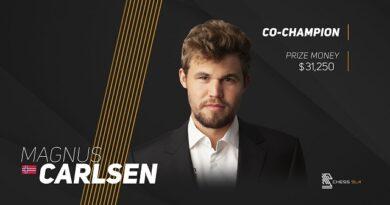 Carlsen y Nakamura compartieron el primer lugar en el torneo Champions Showdown: Chess9LX, de ajedrez960