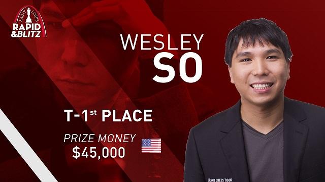 Wesley So compartió la cima del torneo con Magnus Carlsen. Foto: tomada del sitio oficial del evento