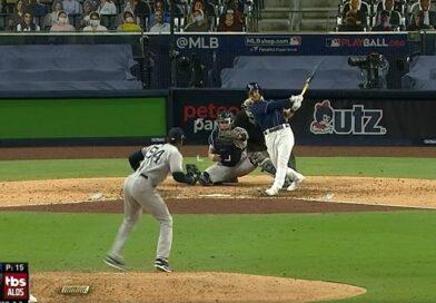 Aroldis Chapman permitió el jonrón de Brosseau. Los Yankees quedaron eliminados de los playoffs.