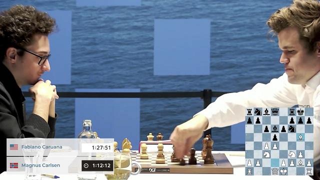 La partida entre Magnus Carlsen y Fabiano Caruana, la más esperada del torneo Tata Steel 2021, terminó en tablas.