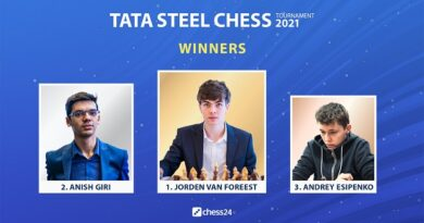 Jorden Van Foreest venció a Anish Giri en el mini-match de desempate y se proclamó campeón del torneo Tata Steel en Wijk aan Zee