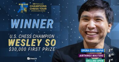 Wesley So superó nuevamente a Magnus Carlsen y ganó el Opera Euro Rapid.