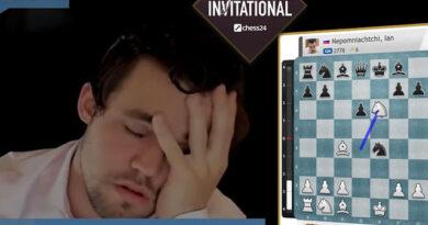 El campeón del mundo, Magnus Carlsen, quedó eliminado de su propio torneo, al ceder en las partidas blitz de desempate ante Ian Nepomniachtchi
