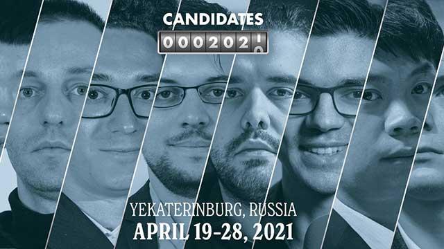 El Torneo de Candidatos 2021 promete ser emocionante hasta la última ronda. Foto: Chess24