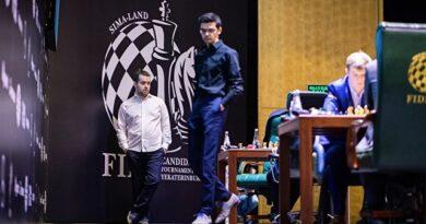 La 12ma ronda del Torneo de Candidatos fue espectacular, ya que las 4 partidas tuvieron a un ganador. Nepomniachtchi mantuvo medio punto de ventaja sobre Giri . Foto: Tomada del sitio oficial del evento