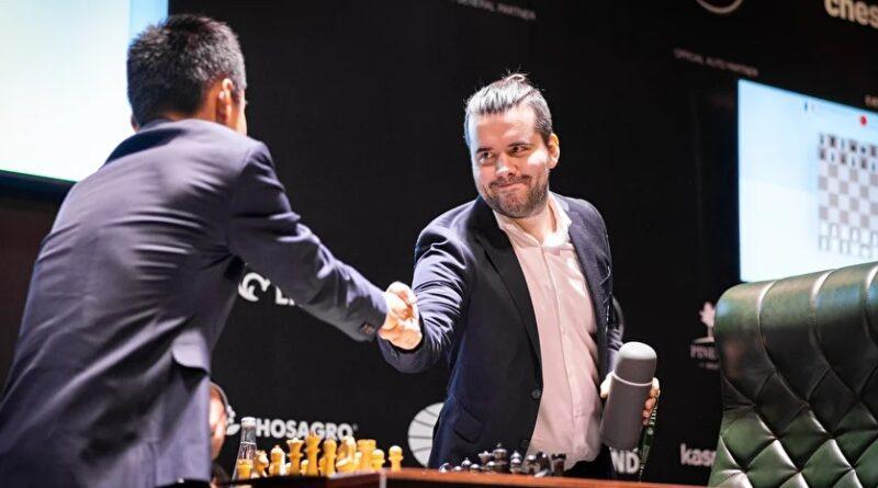 El Torneo de Candidatos 2020/2021 fue muy combativo. En la segunda vuelta, 16 de las 28 partidas tuvieron a un ganador. Foto: tomada del sitio oficial del evento.
