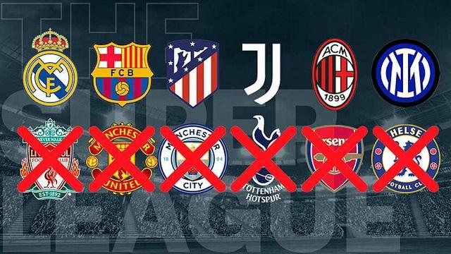 La Súper Liga de clubes europeos, al menos en su concepción inicial, parece enterrada.