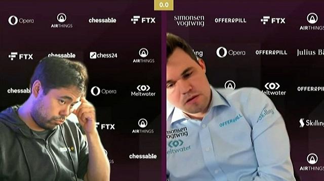 Después de sufrir a lo largo de ocho partidas rápidas ante Hikaru Nakamura, el campeón mundial Magnus Carlsen aplastó al estadounidense en los dos cotejos blitz y avanzó a las semifinales de la FTX Crypto Cup.
