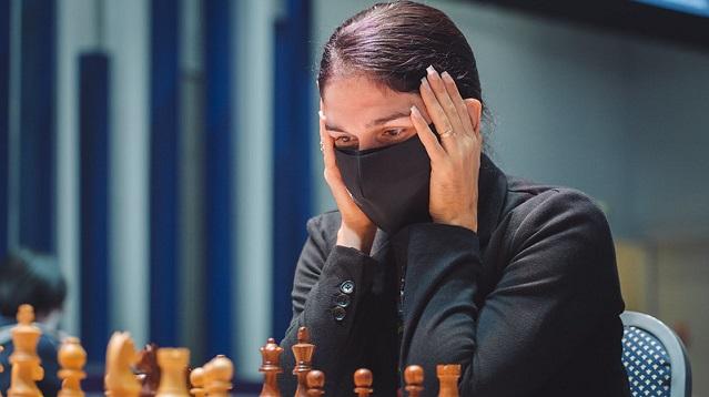Yasser Quesada y Lisandra Ordaz quedaron eliminados de la Copa Mundial de ajedrez. Foto: Eric Rosen / FIDE.