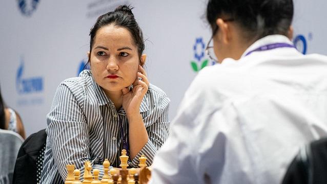 Yerisbel Miranda perdió su primera partida en la Copa Mundial de ajedrez. Foto: FIDE.
