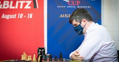 El GM Leinier Domínguez tuvo mucha suerte ante Peter Svidler, en la sexta ronda de la Copa Sinquefield. Dividió el punto y sigue en la cima