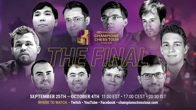 Después de 10 meses, 9 torneos y más de 1.000 partidas jugadas, el Meltwater Champions Chess Tour tendrá su evento más esperado: las Finales