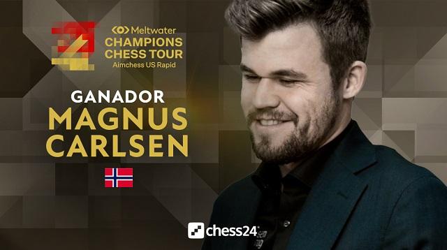 Magnus Carlsen derrotó a Vladislav Artemiev y ganó el título del Aimchess US Rapid, última parada ante de las Finales del Champions Chess Tour