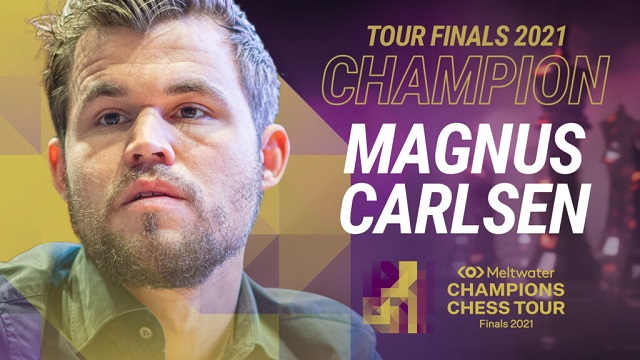 Magnus Carlsen, ganó las Finales del Melwater Champions Chess Tour, con dos rondas de antelación.